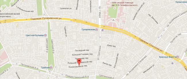 Адрес Леонтьева в Москве