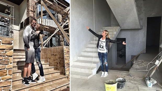 Дом Бузовой, в котором идет ремонт