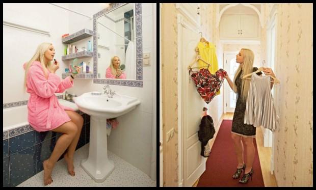 Квартира Ольги Бузовой: душ и коридор