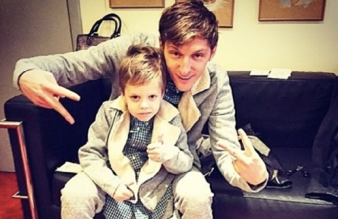 Павел Воля с сыном Робертом