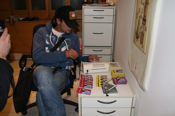 Дима Билан в офисе