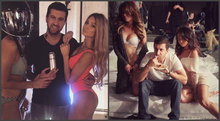 Амиран Сардаров с девушками