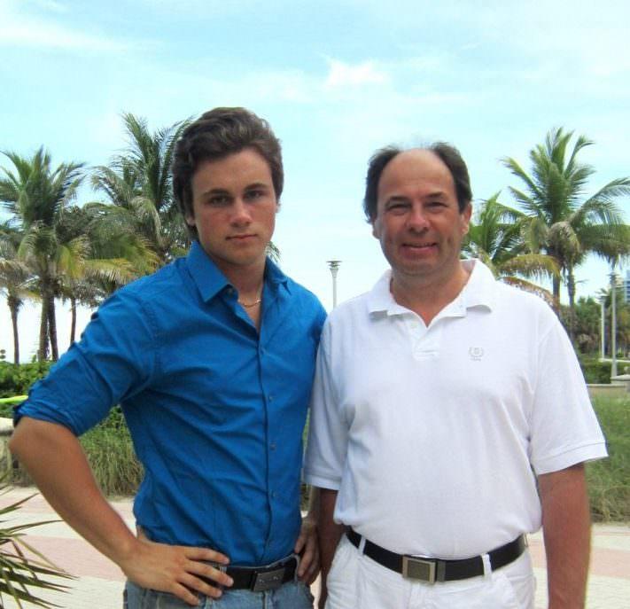 Николай Соболев с отцом