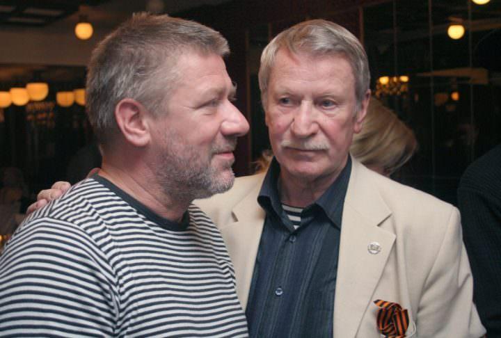Иван Краско с сыном Андреем за месяц до его смерти