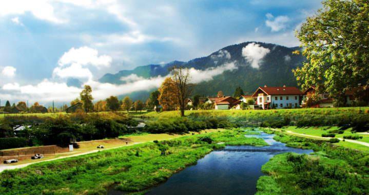 Красивая деревня